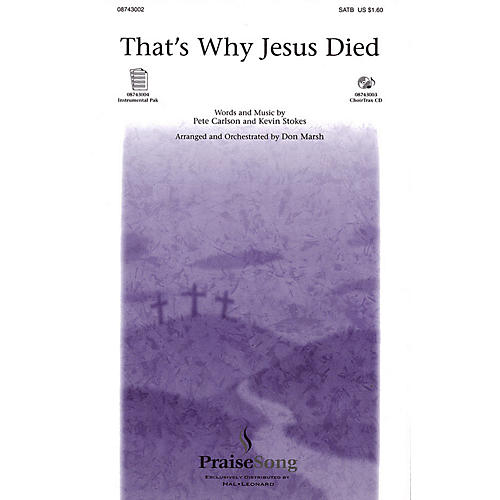 PraiseSong That's Why Jesus Died (I-Pak (Full Orchestra)) IPAKO Arranged by Don Marsh thumbnail