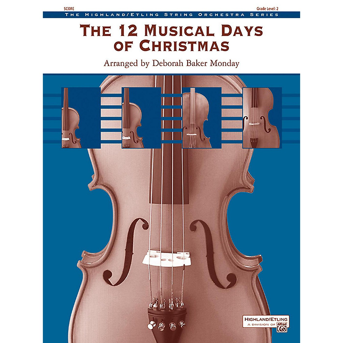 Alfred The 12 Musical Days of Christmas String Orchestra Grade 2 thumbnail