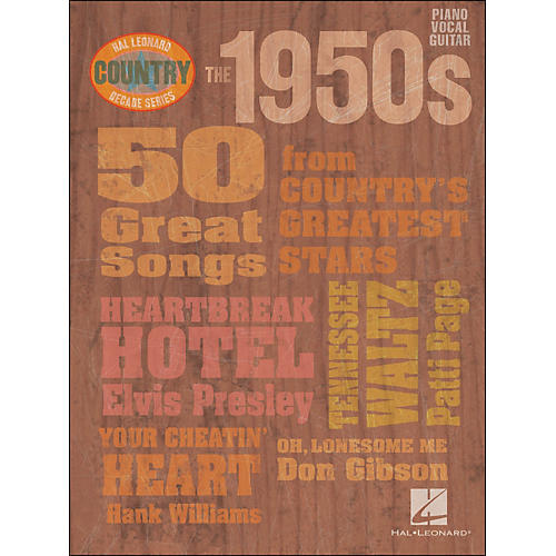 Hal Leonard The 1950s Country Decade Series arranged for piano, vocal, and guitar (P/V/G) thumbnail