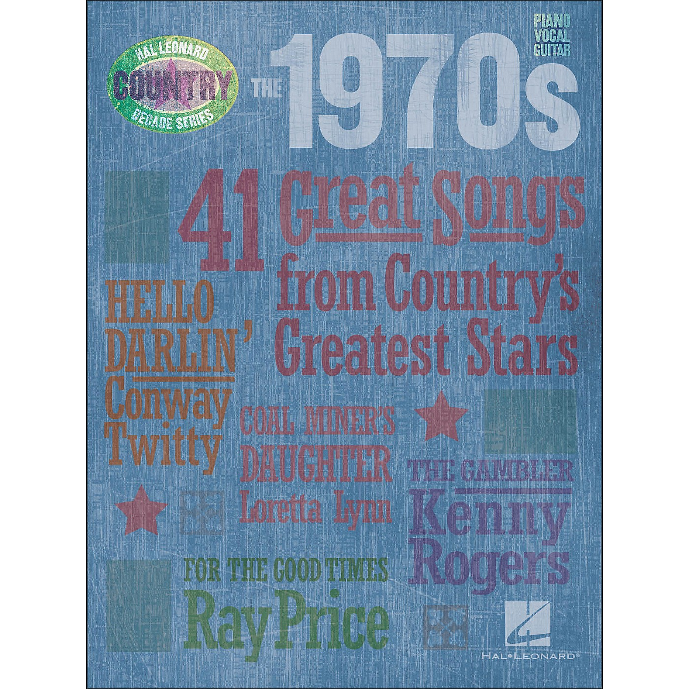 Hal Leonard The 1970s Country Decade Series arranged for piano, vocal, and guitar (P/V/G) thumbnail