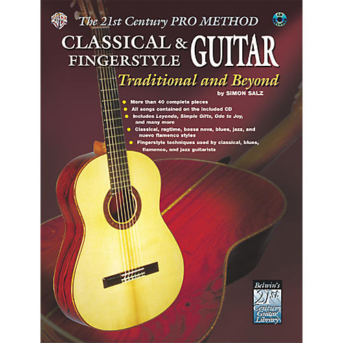 Alfred The 21st Century Pro Method: Classical & Fingerstyle Guitar Traditional & Beyond Book with CD thumbnail