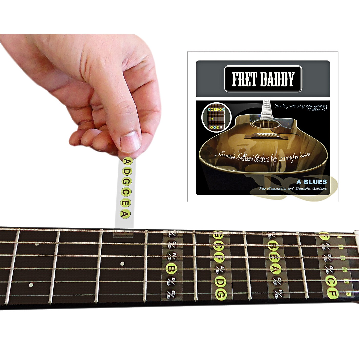 Fret Daddy The A Blues Scale for Electric/Acoustic Guitar thumbnail
