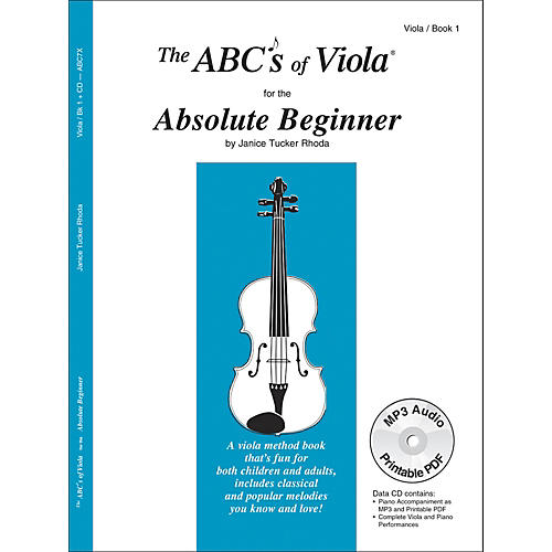 Carl Fischer The Abc's of Viola for the Absolute Beginner - Book 1 (Book/CD) thumbnail