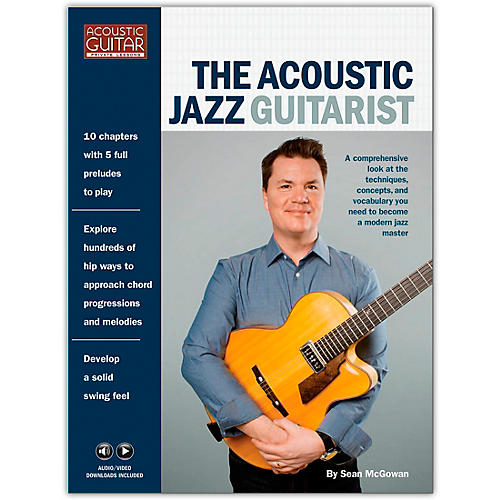 Hal Leonard The Acoustic Jazz Guitarist - Acoustic Guitar Private Lessons Series Book/ Media Online thumbnail