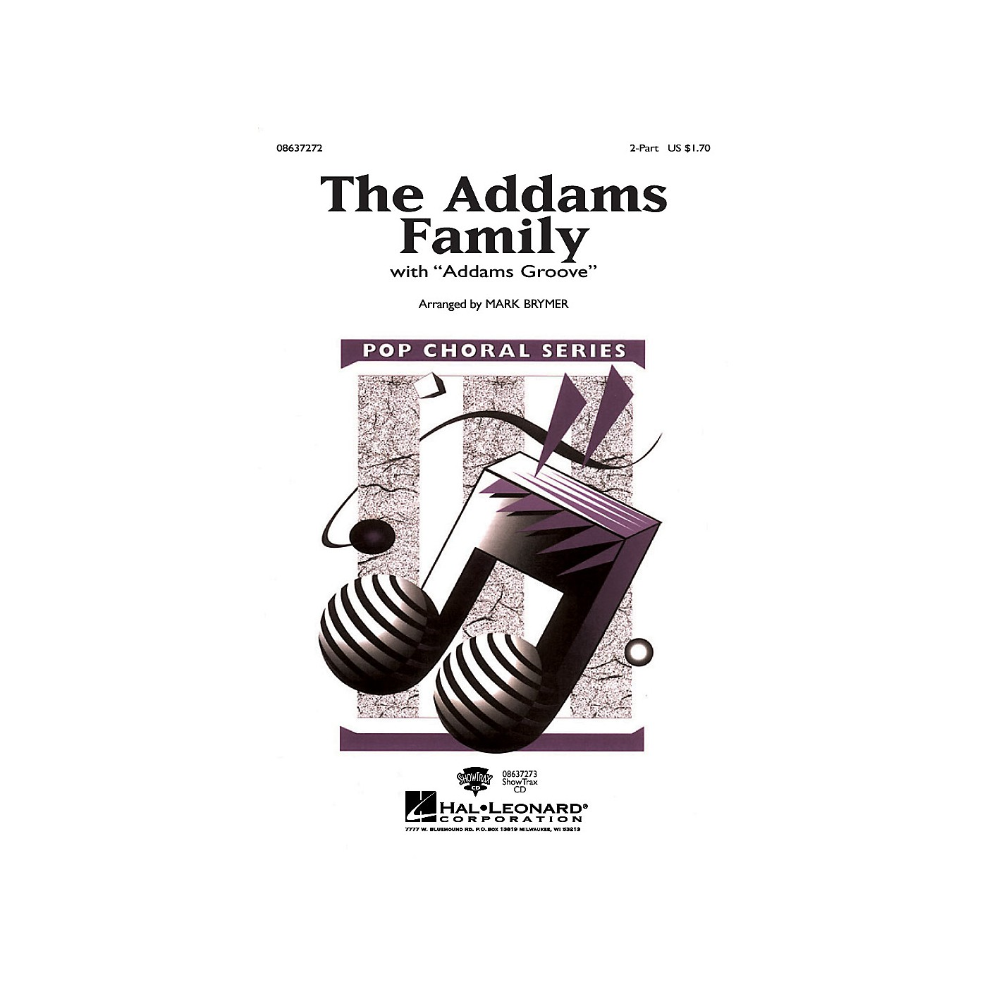 Hal Leonard The Addams Family 2-Part arranged by Mark Brymer thumbnail