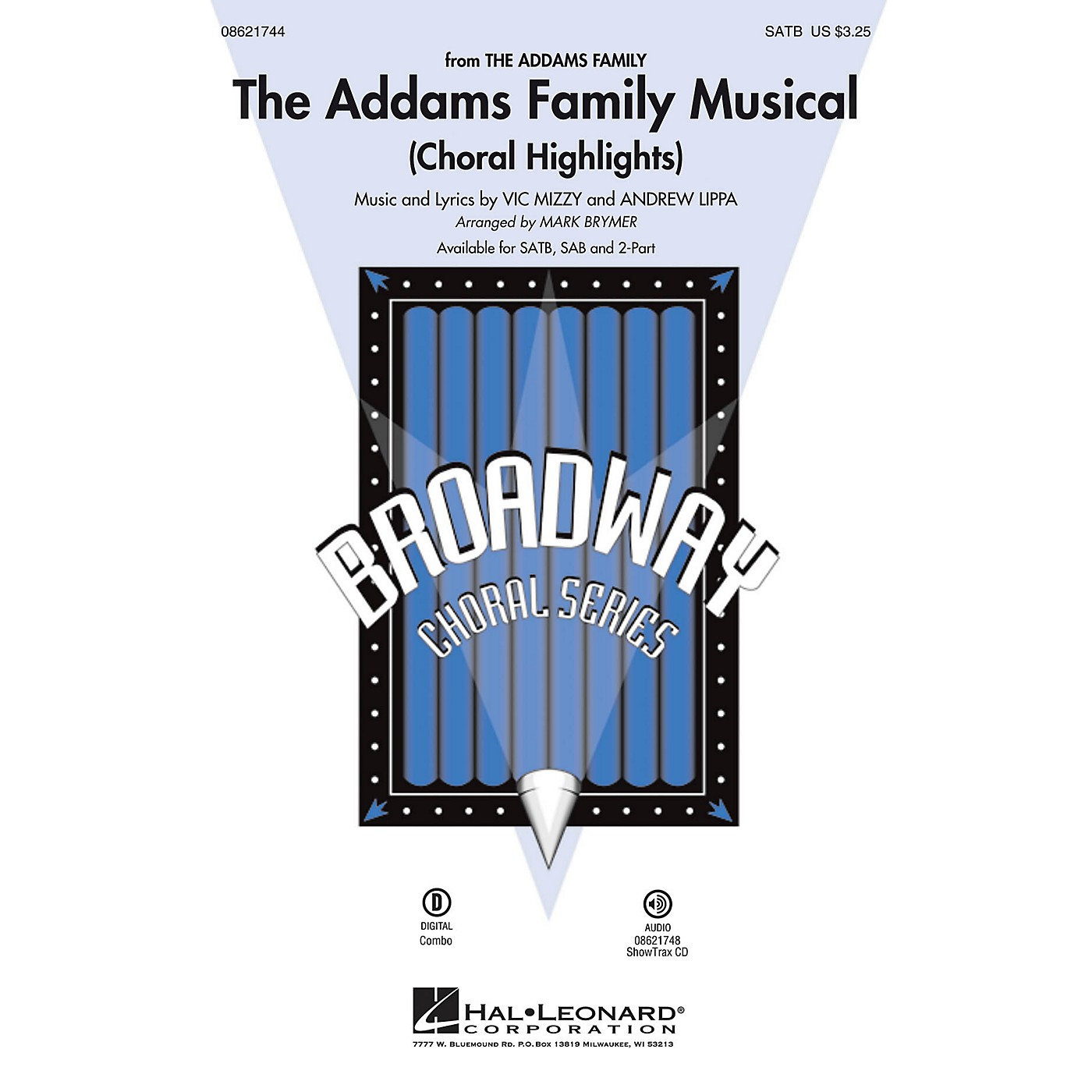 Hal Leonard The Addams Family Musical (Choral Highlights) 2-Part Arranged by Mark Brymer thumbnail