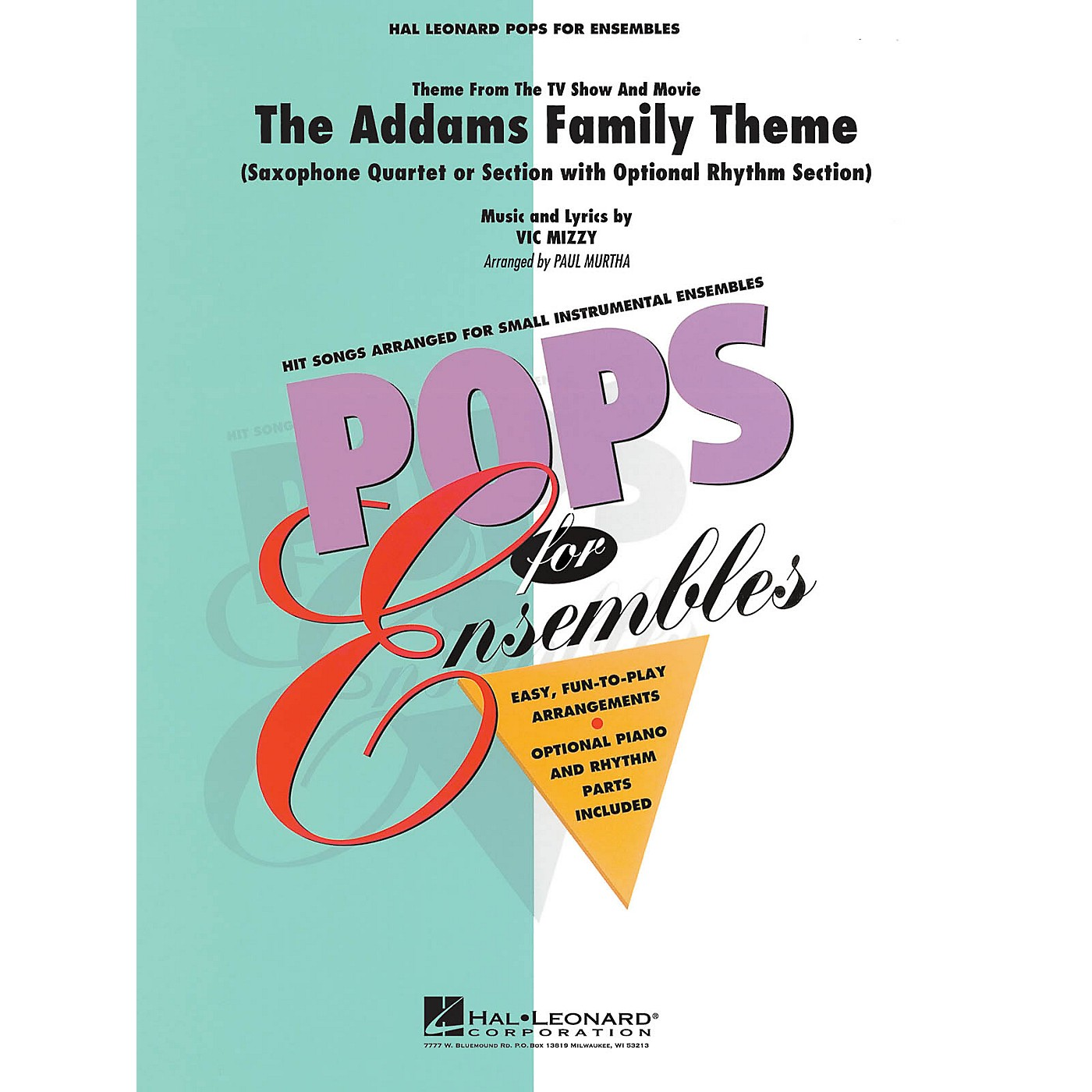 Hal Leonard The Addams Family Theme Concert Band Level 2-3 Arranged by Paul Murtha thumbnail