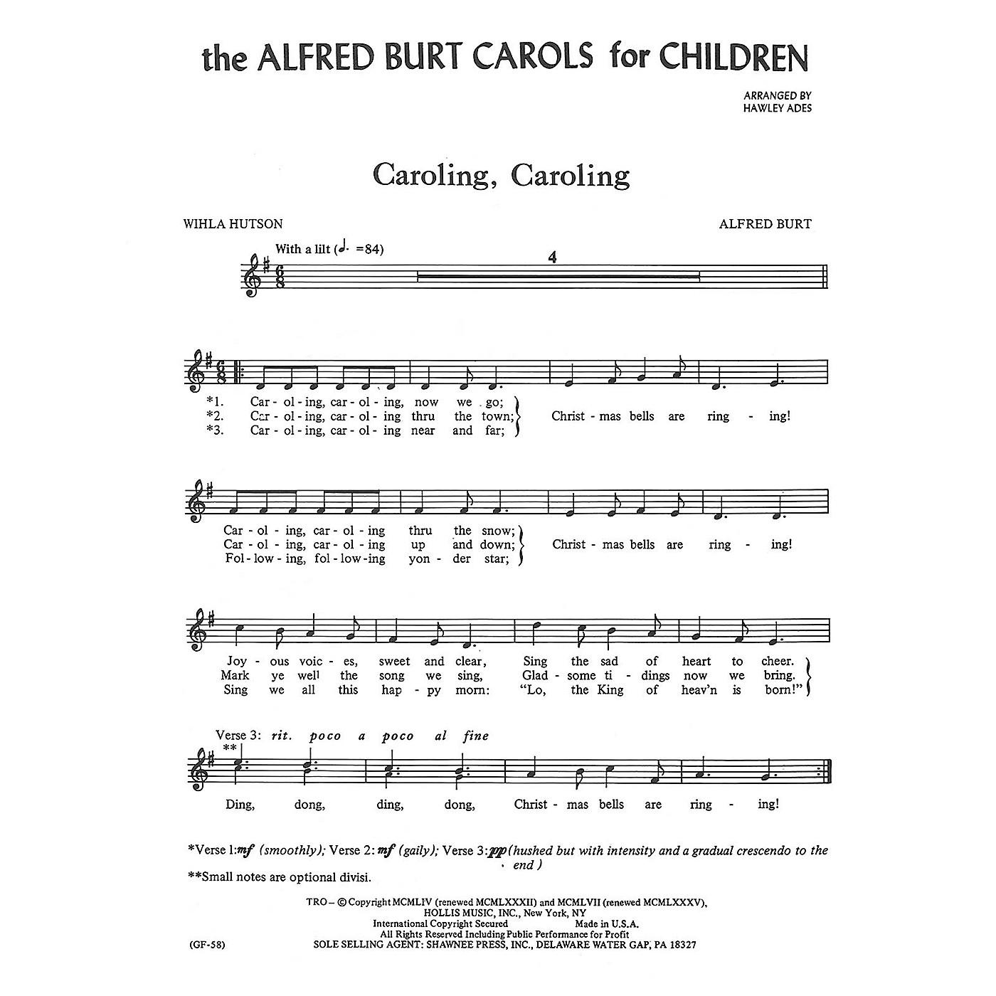Shawnee Press The Alfred Burt Carols for Children UNIS arranged by Hawley Ades thumbnail