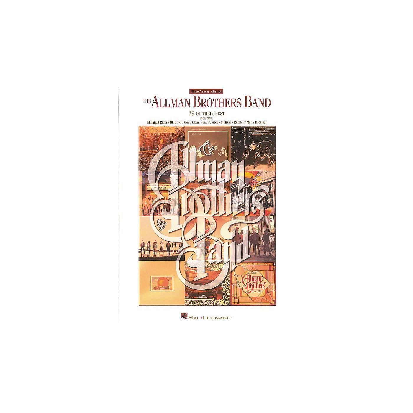 Hal Leonard The Allman Brothers Band Piano, Vocal, Guitar Songbook thumbnail