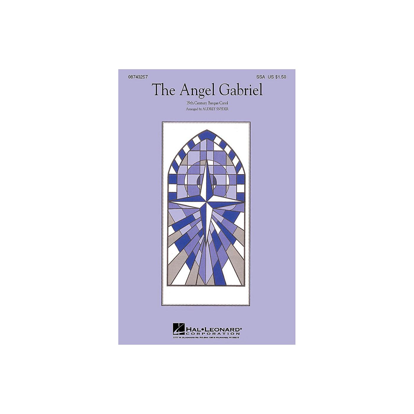 Hal Leonard The Angel Gabriel (SSA) SSA arranged by Audrey Snyder thumbnail