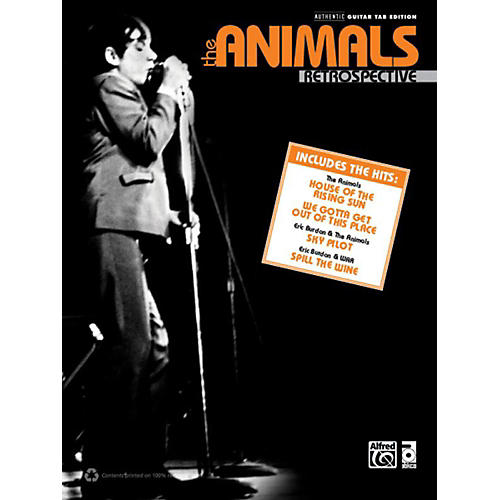 Alfred The Animals Retrospective Guitar TAB Book thumbnail