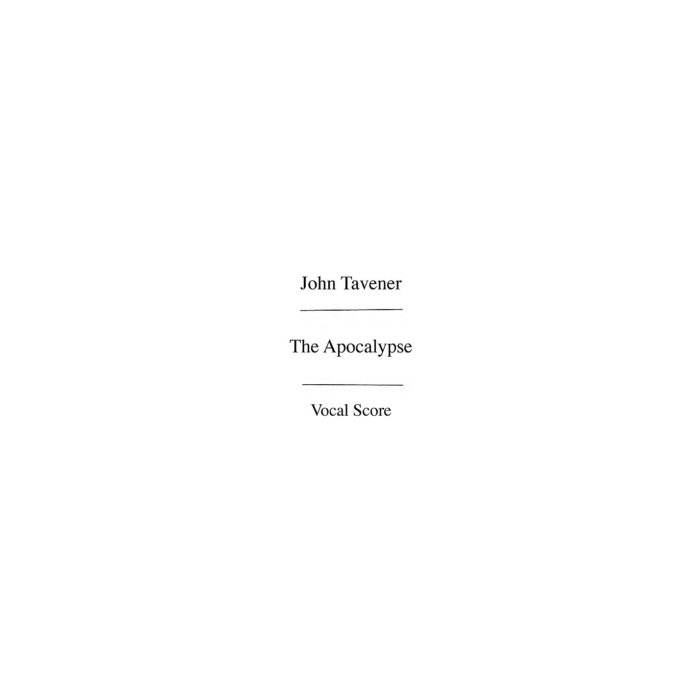 Chester Music The Apocalypse (Vocal Score) SATB with Piano Composed by John Tavener thumbnail
