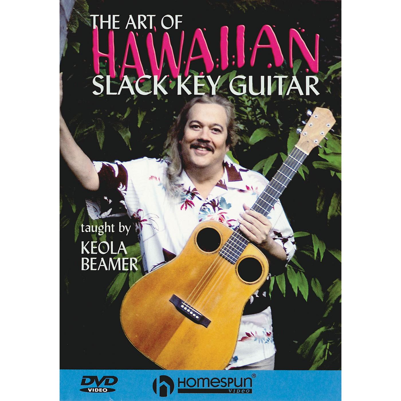 Homespun The Art of Hawaiian Slack Key Guitar Instructional/Guitar/DVD Series DVD Performed by Keola Beamer thumbnail