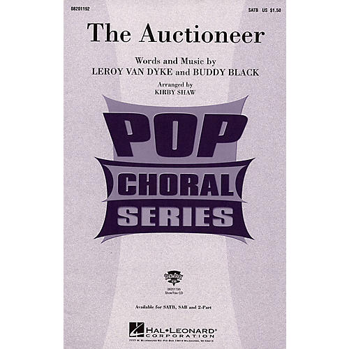 Hal Leonard The Auctioneer SATB arranged by Kirby Shaw thumbnail