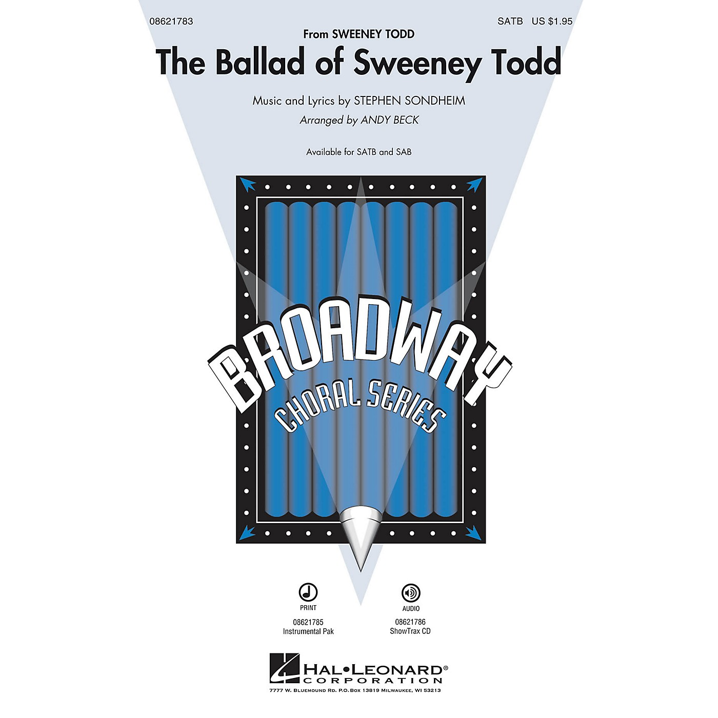 Hal Leonard The Ballad of Sweeney Todd SATB arranged by Andy Beck thumbnail