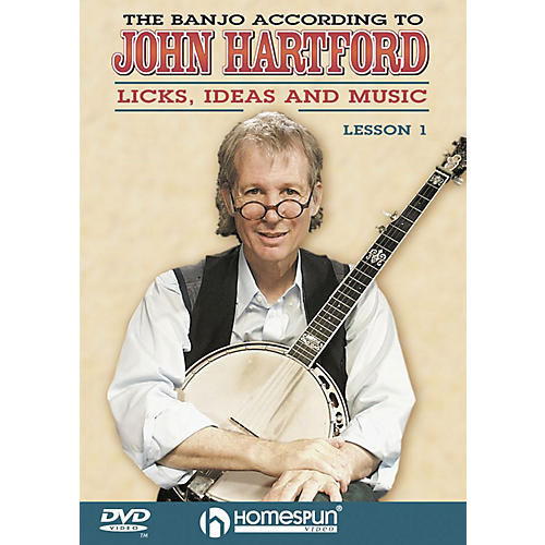 Homespun The Banjo According to John Hartford (DVD 1) DVD/Instructional/Folk Instrmt Series DVD by John Hartford thumbnail