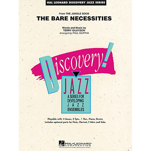 Hal Leonard The Bare Necessities (from The Jungle Book) Jazz Band Level 1.5 Arranged by Paul Murtha thumbnail