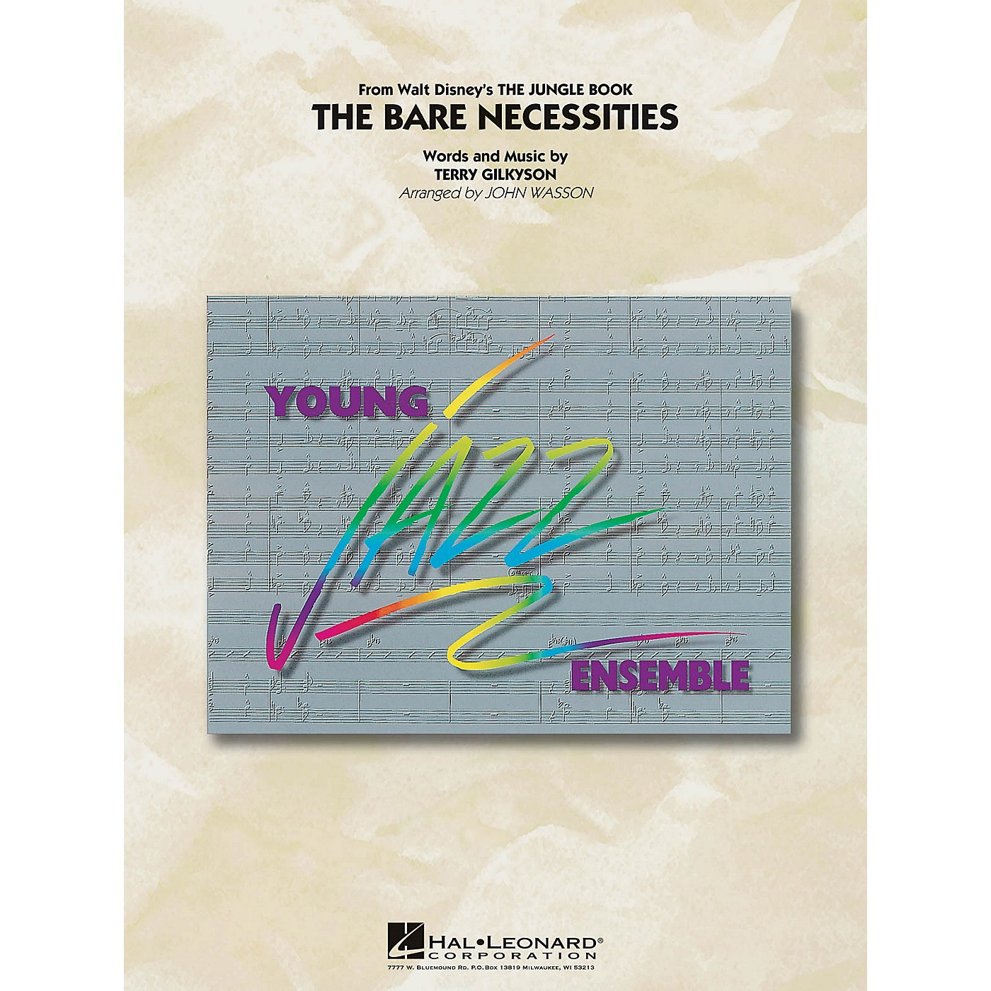 Hal Leonard The Bare Necessities (from The Jungle Book) Jazz Band Level 3 Arranged by John Wasson thumbnail