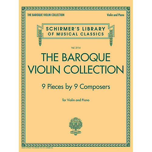G. Schirmer The Baroque Violin Collection - 9 Pieces by 9 Composers String Solo Series Softcover thumbnail