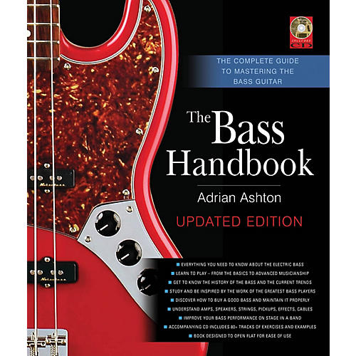 Backbeat Books The Bass Handbook Book Series Hardcover with CD Written by Adrian Ashton thumbnail