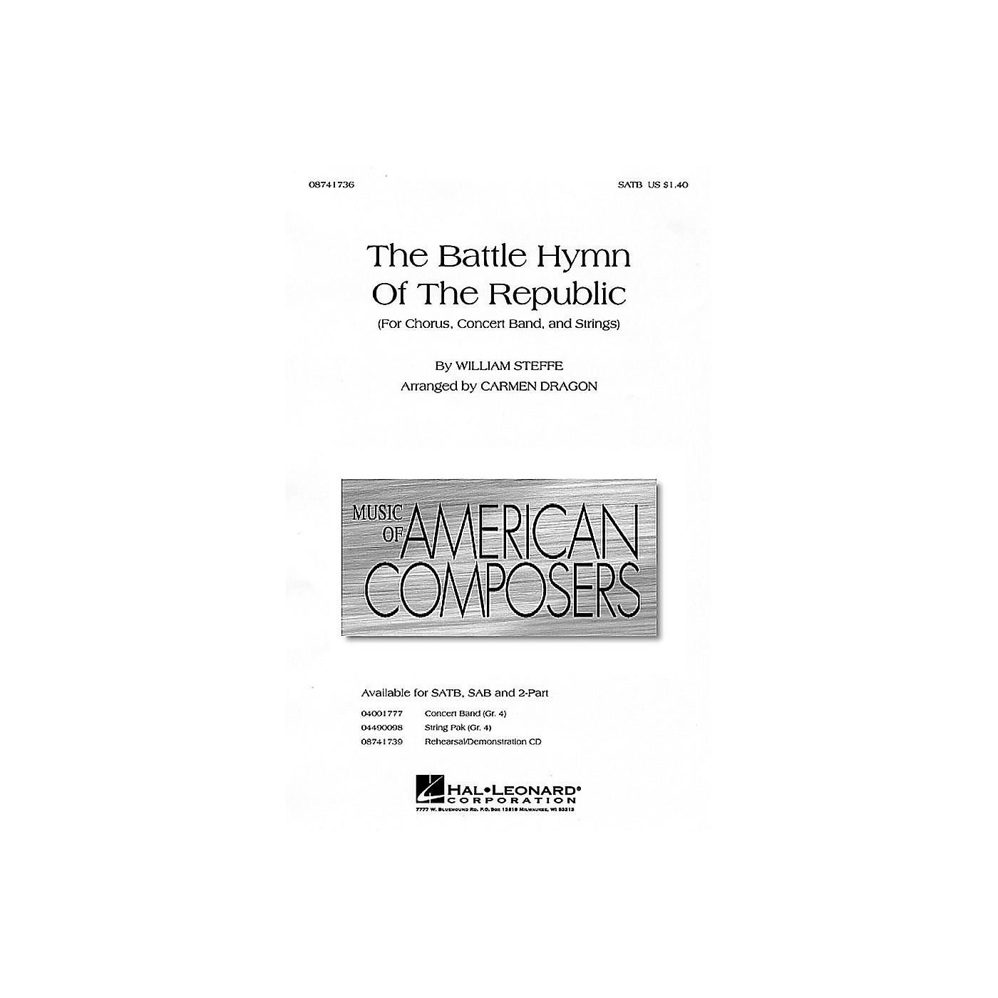 Hal Leonard The Battle Hymn of the Republic SATB arranged by Carmen Dragon thumbnail
