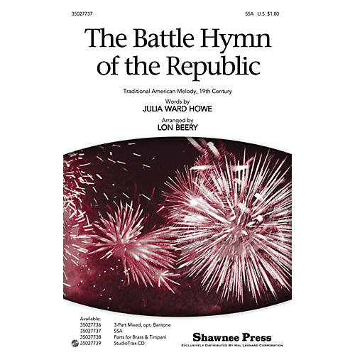 Shawnee Press The Battle Hymn of the Republic SSA arranged by Lon Beery thumbnail