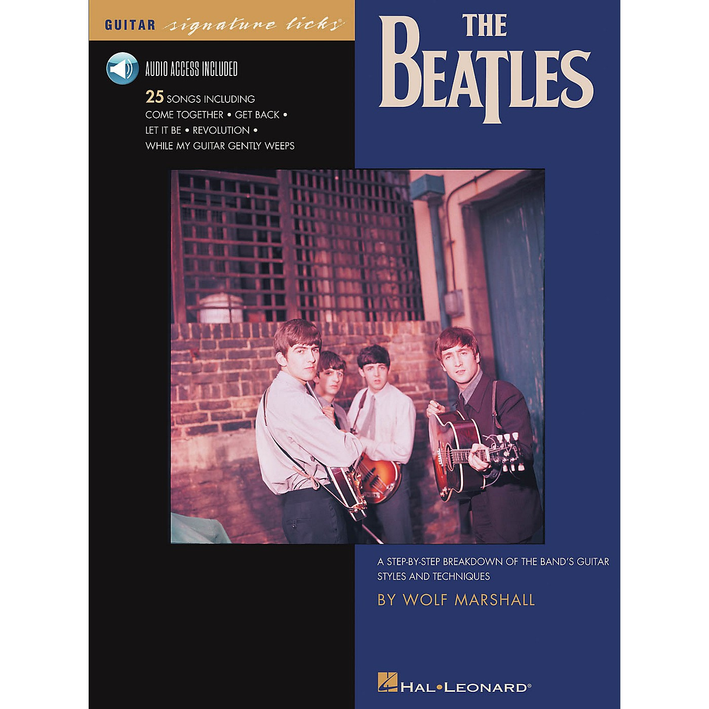 Hal Leonard The Beatles - A Step-by-Step Breakdown of the Band's Guitar Styles and Techniques Book/Audio Online thumbnail
