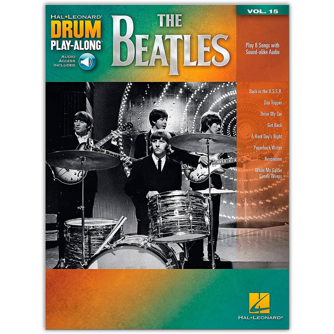Hal Leonard The Beatles - Drum Play-Along Volume 15 thumbnail