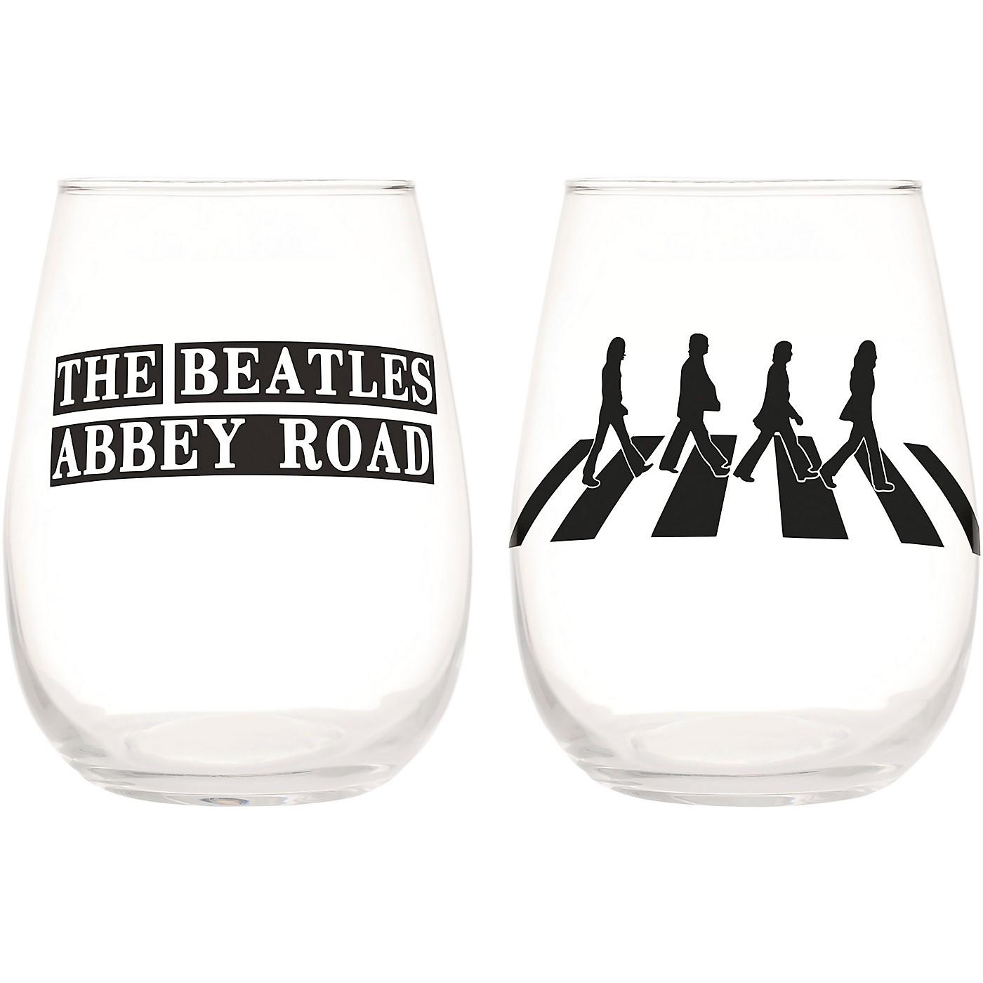 Vandor The Beatles Abbey Road 2 pc. 18 oz. Contour Glass Tumbler Set thumbnail