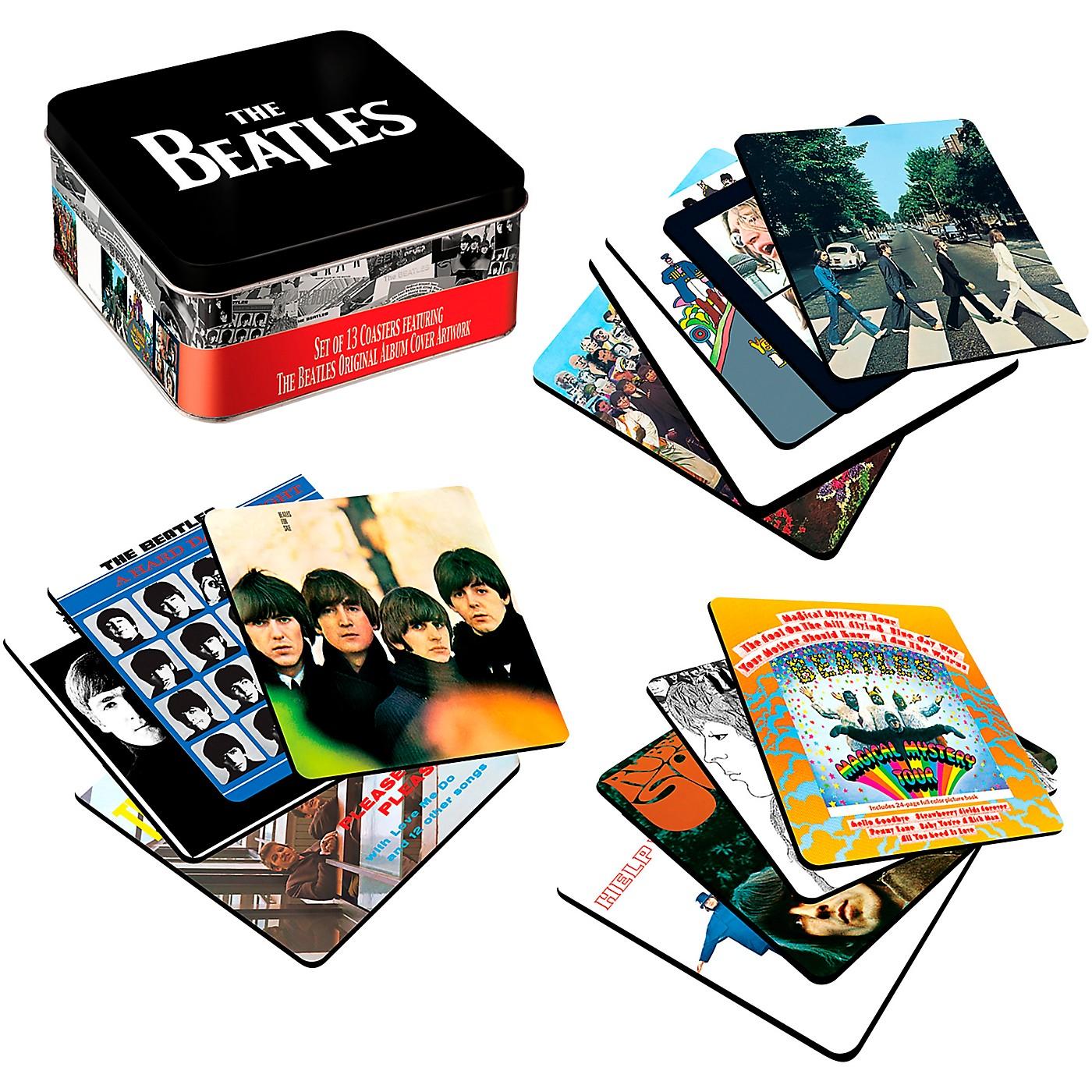 Vandor The Beatles Album Covers - 13 Piece Coaster Set With Tin Storage Box thumbnail