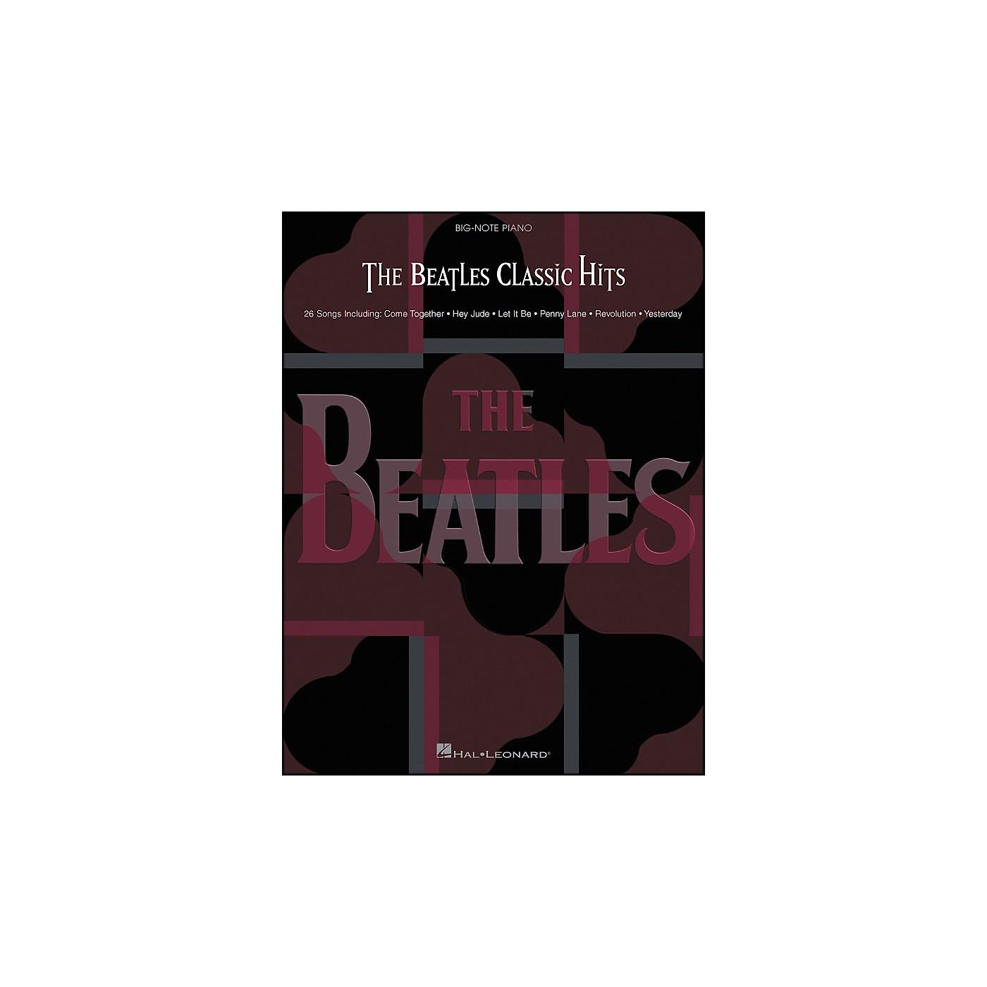Hal Leonard The Beatles Classic Hits for Big Note Piano thumbnail