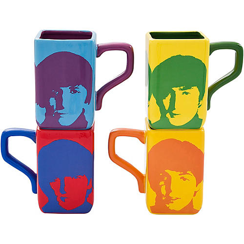 Vandor The Beatles Color Bar 4 pc. 12 oz. Square Mug Set thumbnail
