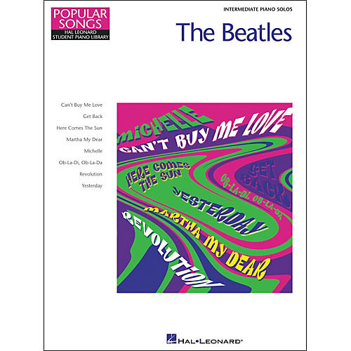 Hal Leonard The Beatles Intermediate Piano Solos Popular Songs Hal Leonard Student Piano Library by Eugenie Rocherolle thumbnail
