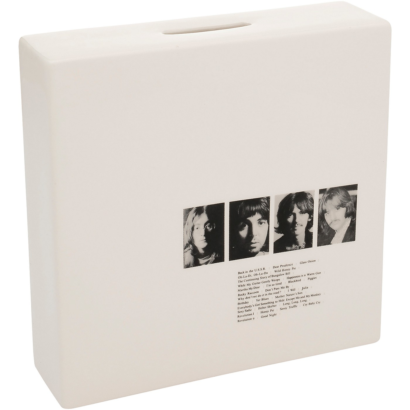 Vandor The Beatles Limited Edition White Album Ceramic Coin Bank thumbnail