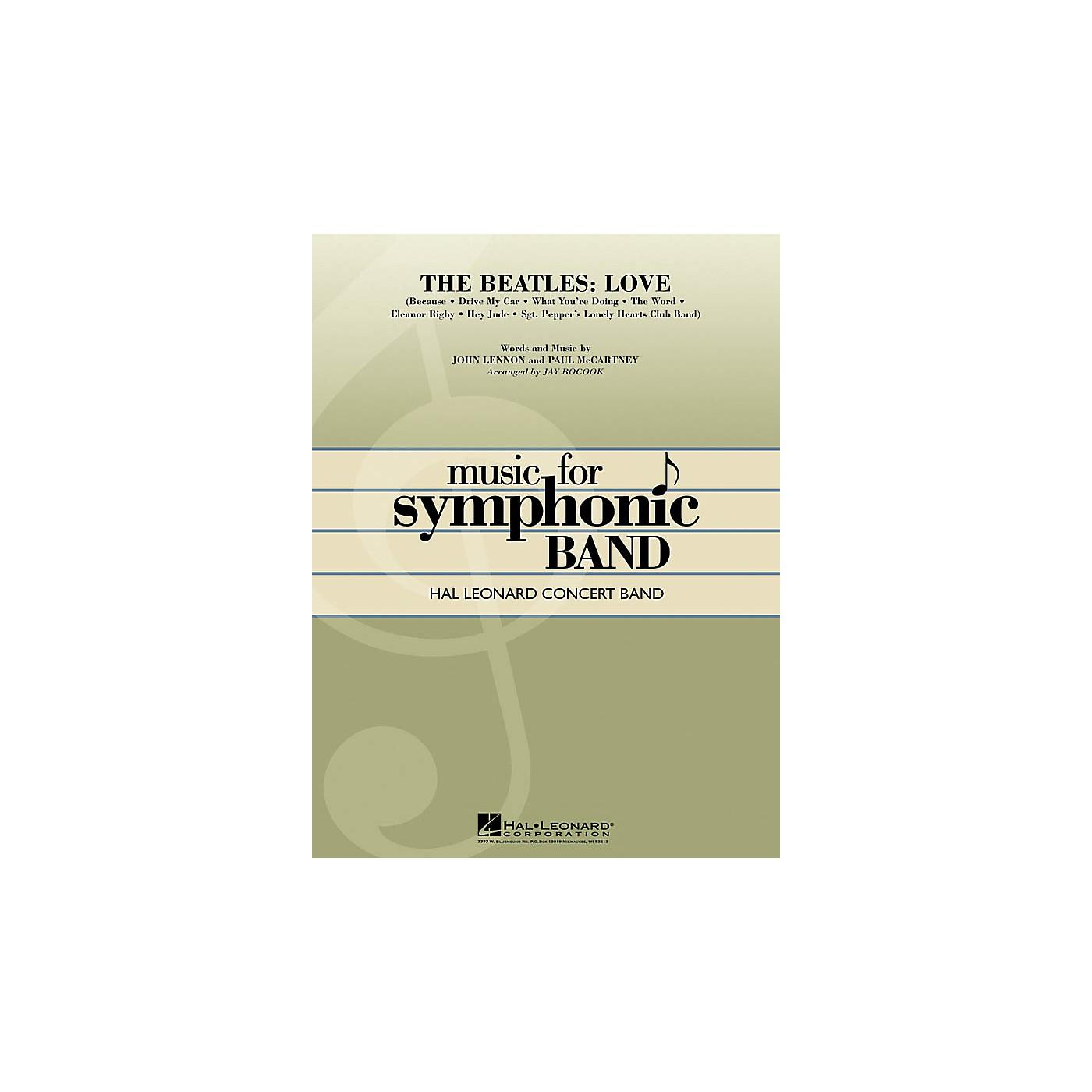 Hal Leonard The Beatles: Love Concert Band Level 4 Arranged by Jay Bocook thumbnail