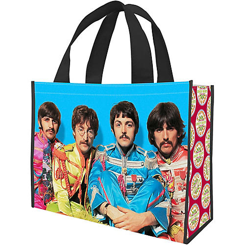 Vandor The Beatles Sgt. Pepper's Large Recycled Shopper Tote thumbnail