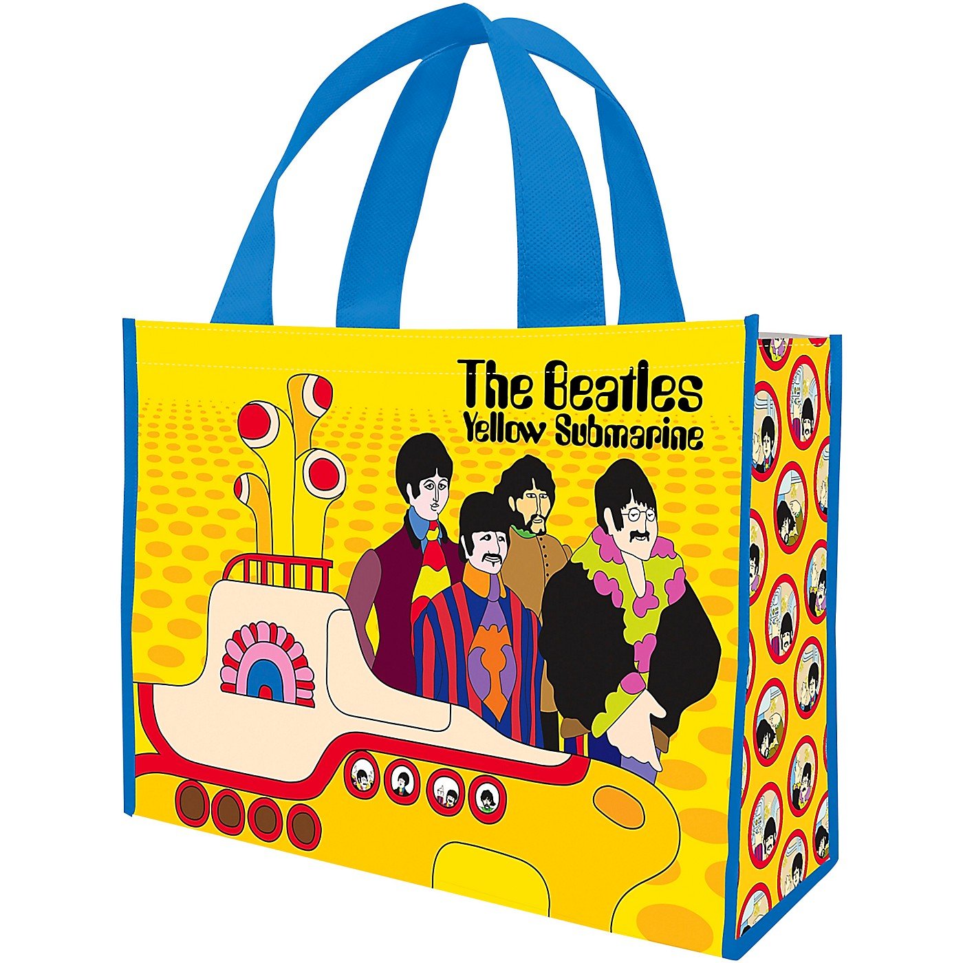 Vandor The Beatles Yellow Submarine Large Recycled Shopper Tote thumbnail