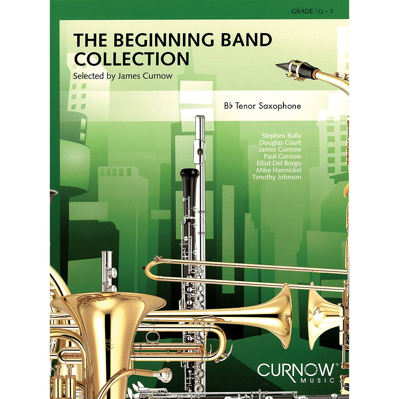 Curnow Music The Beginning Band Collection (Grade 0.5) (Bb Tenor Saxophone) Concert Band Level .5 to 1 by James Curnow thumbnail