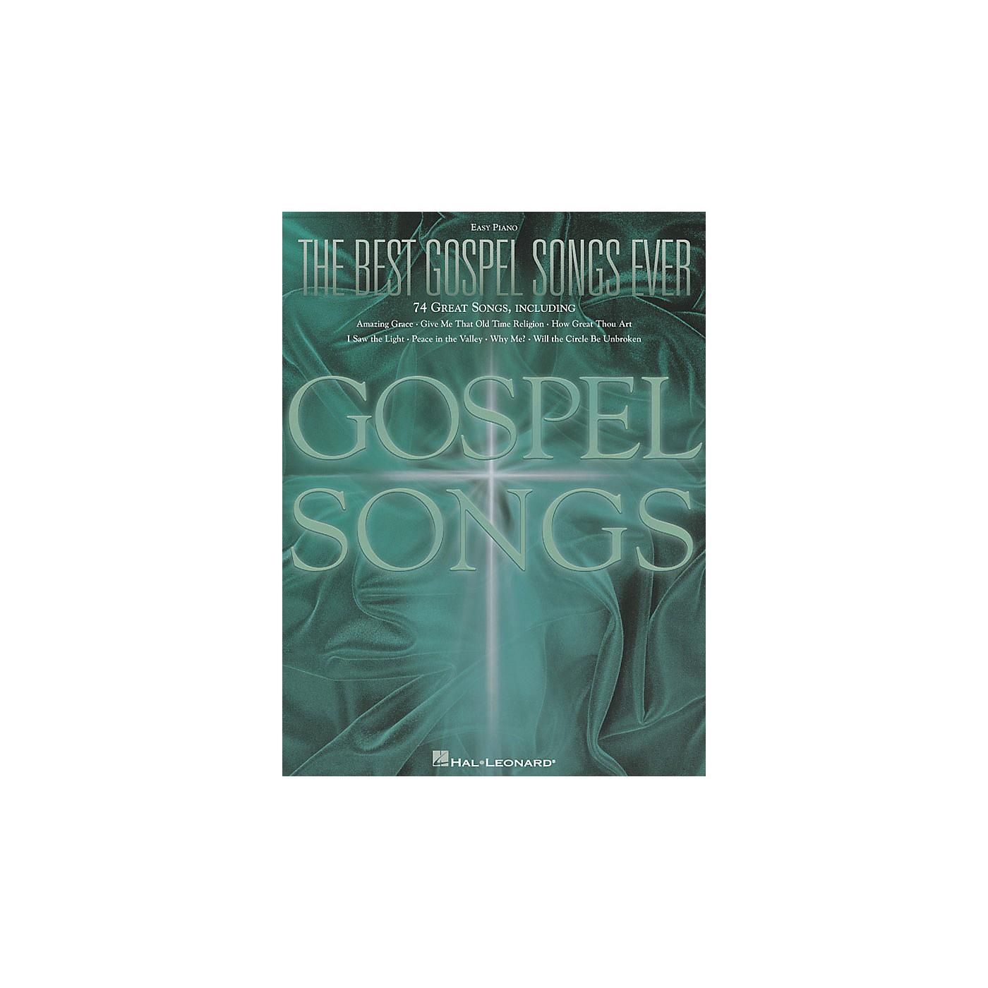 Hal Leonard The Best Gospel Songs Ever For Easy Piano thumbnail