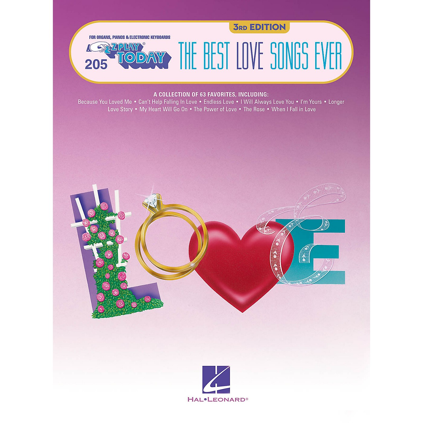 Hal Leonard The Best Love Songs Ever - 3rd Edition E-Z Play Today Volume 205 thumbnail