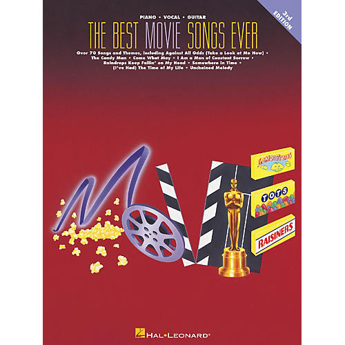 Hal Leonard The Best Movie Songs Ever 3rd Edition Piano, Vocal, Guitar Songbook thumbnail
