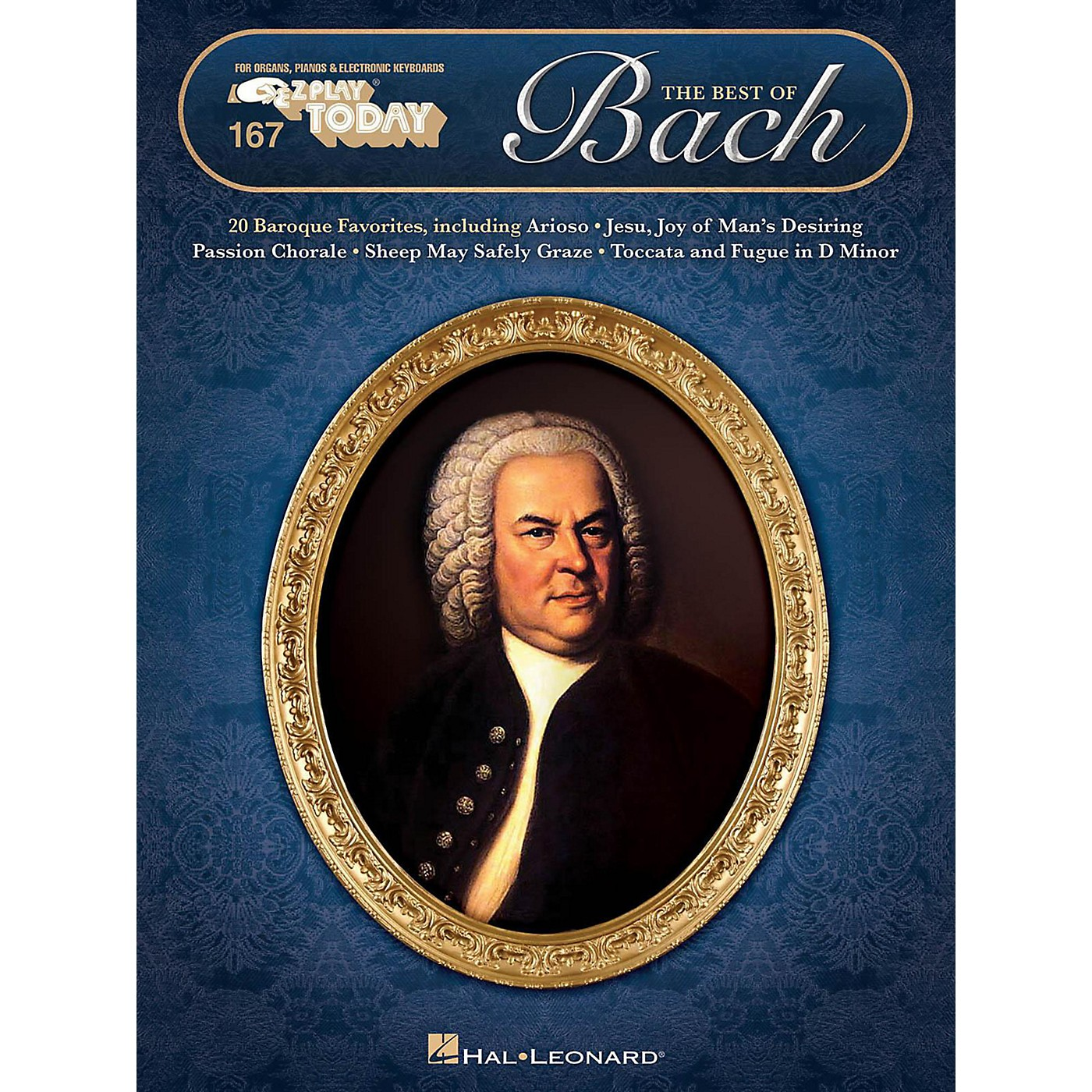 Hal Leonard The Best Of Bach E-Z Play Today Volume 167 thumbnail