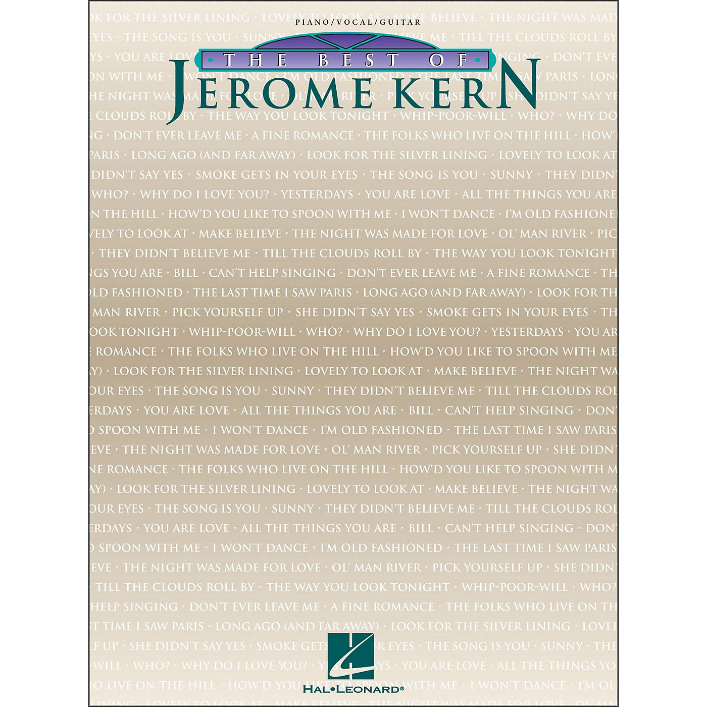 Hal Leonard The Best Of Jerome Kern arranged for piano, vocal, and guitar (P/V/G) thumbnail