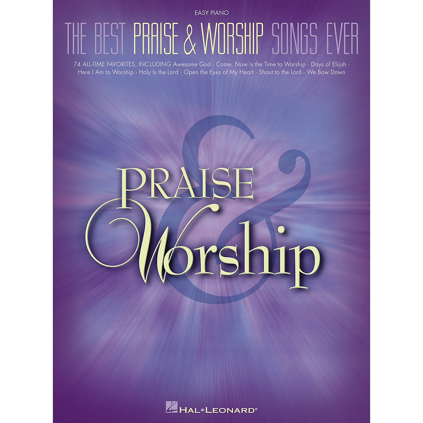 Hal Leonard The Best Praise & Worship Songs Ever For Easy Piano thumbnail