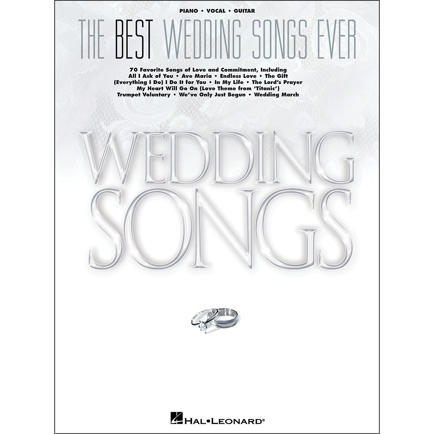 Hal Leonard The Best Wedding Songs Ever arranged for piano, vocal, and guitar (P/V/G) thumbnail