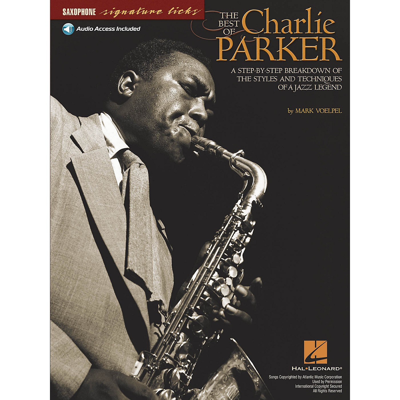 Hal Leonard The Best of Charlie Parker Signature Licks Saxophone Series Softcover with CD Written by Mark Voelpel thumbnail