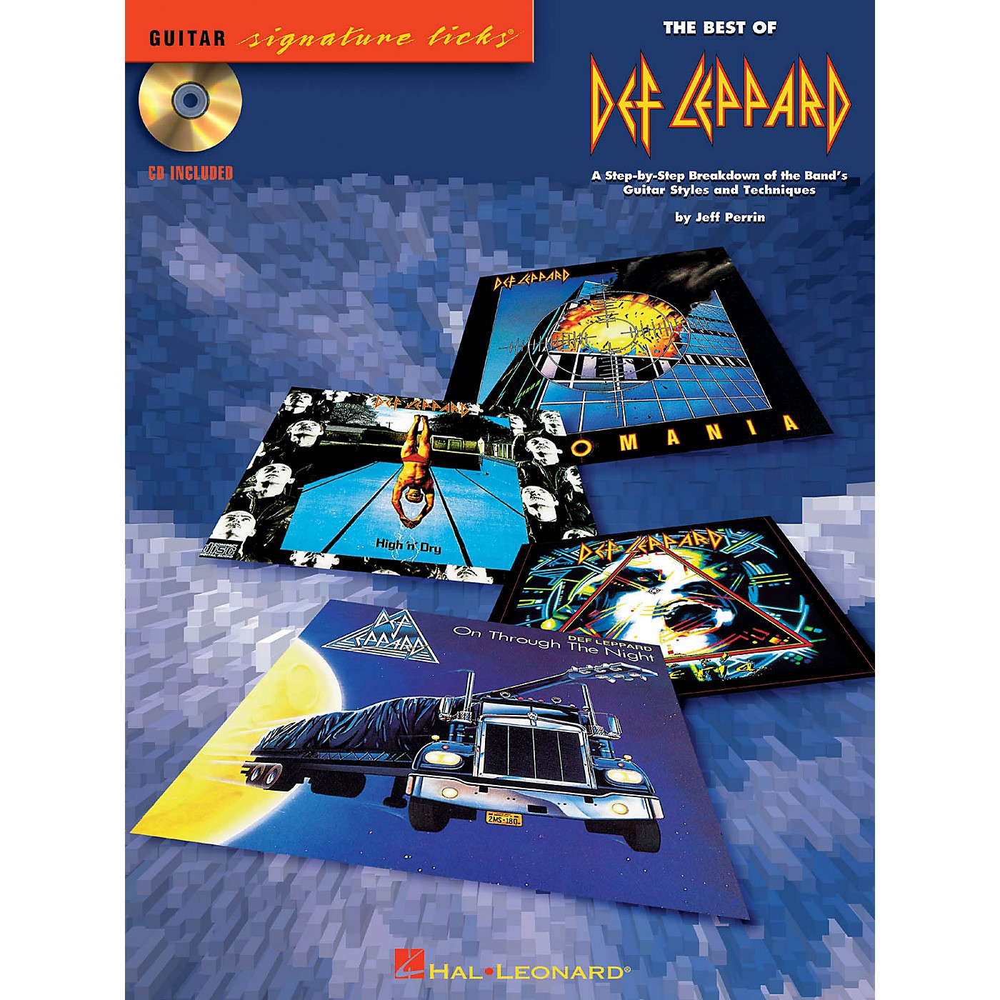 Hal Leonard The Best of Def Leppard Signature Licks Guitar Series Softcover with CD Performed by Def Leppard thumbnail