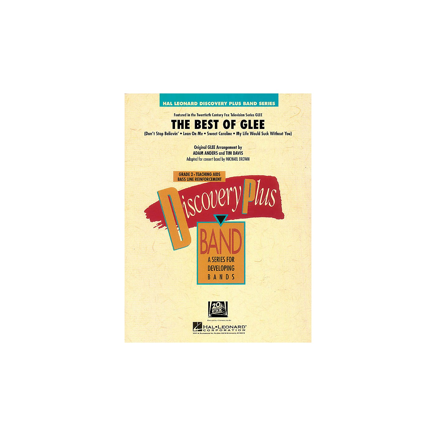 Hal Leonard The Best of Glee - Discovery Plus Band Level 2 arranged by Michael Brown thumbnail