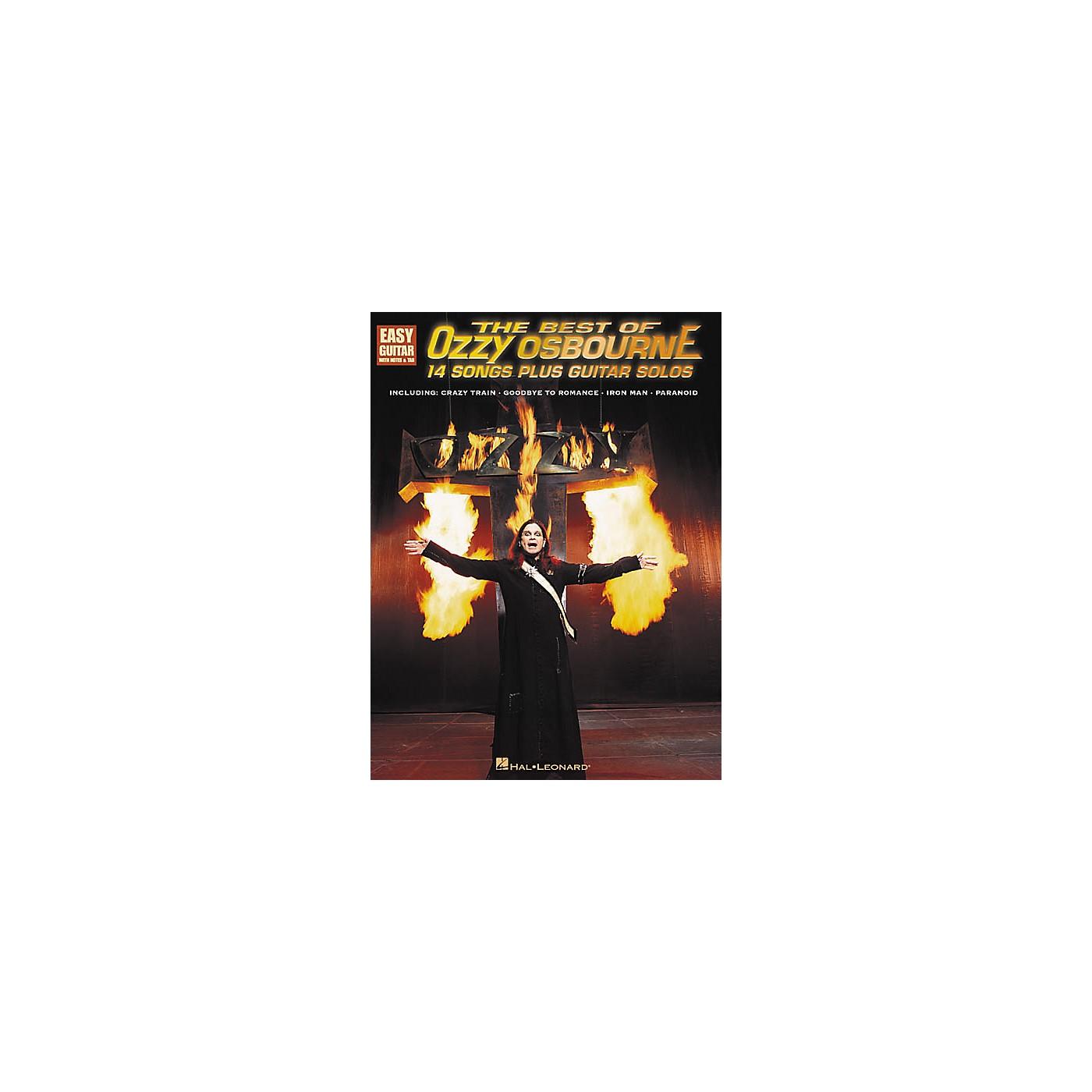 Hal Leonard The Best of Ozzy Osbourne Easy Guitar Tab Songbook thumbnail