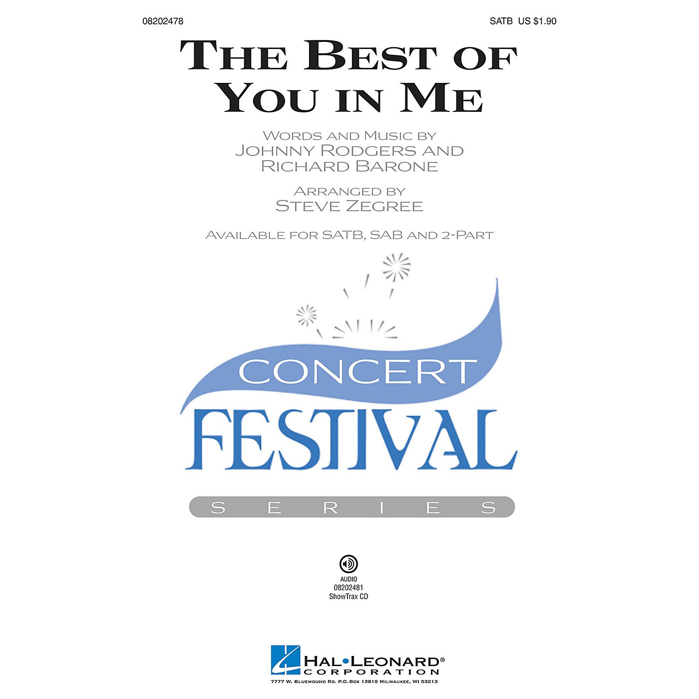 Hal Leonard The Best of You in Me 2-Part Arranged by Steve Zegree thumbnail